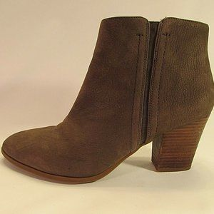 Franco Sarto Aeron Brown Nubuck Leather Ankle Boot